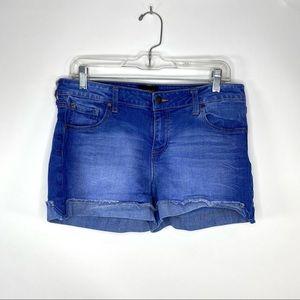 Celebrity Pink Womens Denim Cuffed High Rise Denim Shorts Plus BHFO 1263